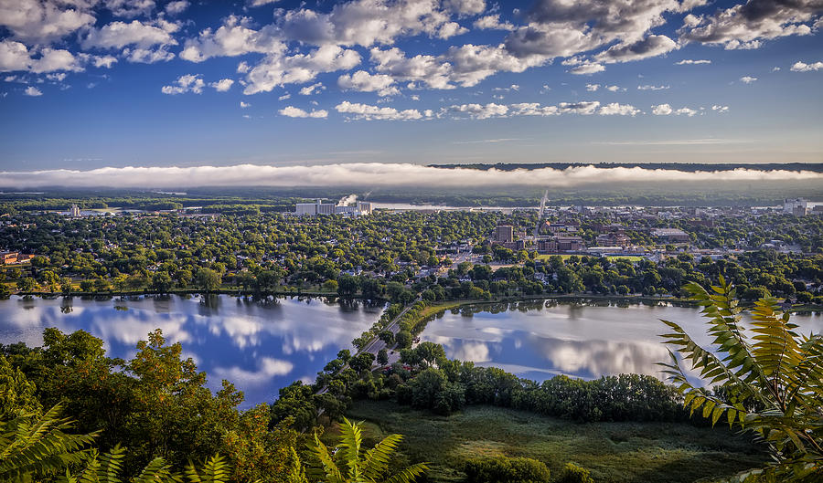 River fog at Winona by Al  Mueller