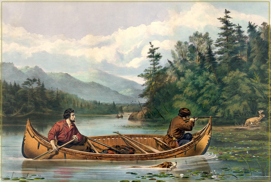 Antique Digital Art - River Hunting by Gary Grayson