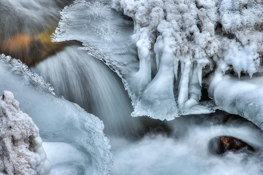 River Photograph - River Ice by Chad Dutson