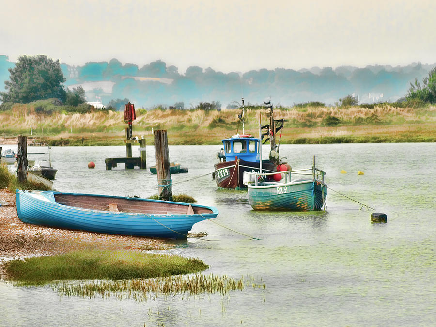 Small Boat Prints Photograph - River Life by Sharon Lisa Clarke