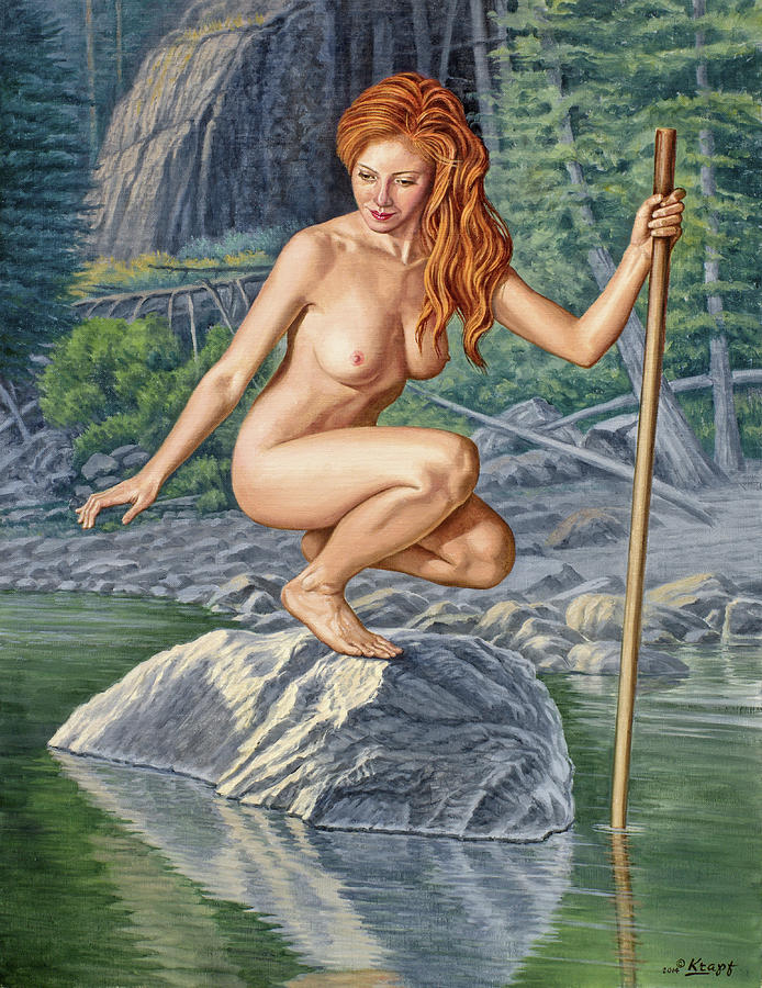 Nude Painting - River Nymph by Paul Krapf