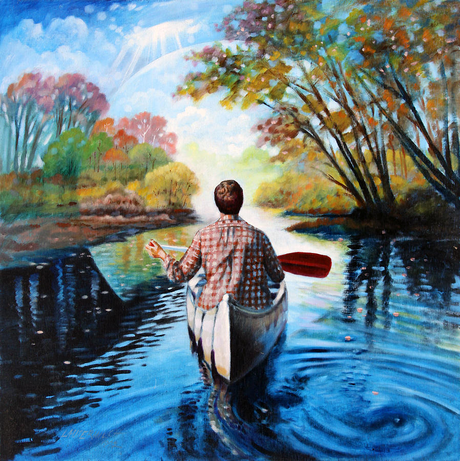 River Of Dreams Painting By John Lautermilch