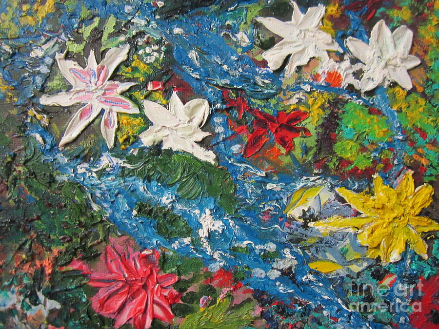 Flowers Painting - River Of Flowers  by Max Lines