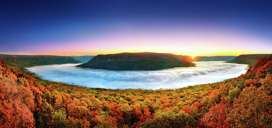 Tennessee River Gorge Photograph - River Of Fog by Steven Llorca