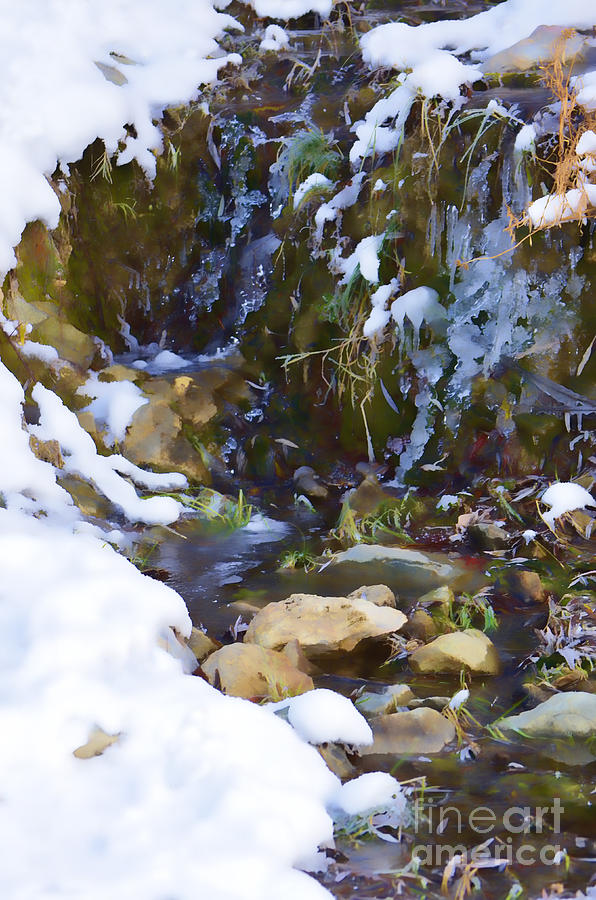 Ice Photograph - River Painting by Donna Greene