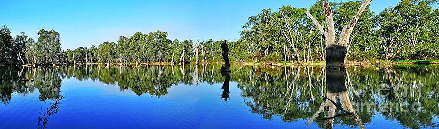 Panorama Photograph - River Panorama And Reflections by Kaye Menner