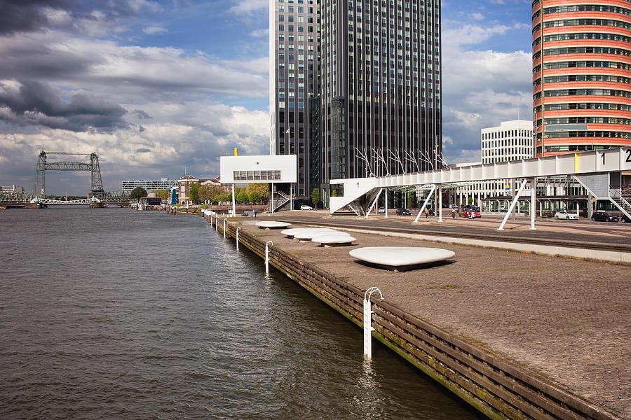 Rotterdam Photograph - River Promenade In Rotterdam by Artur Bogacki