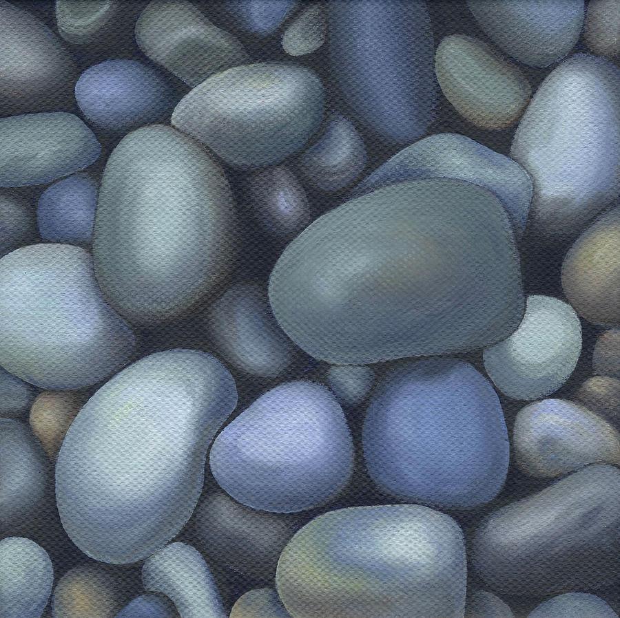 Rocks Painting - River Rocks by Natasha Denger