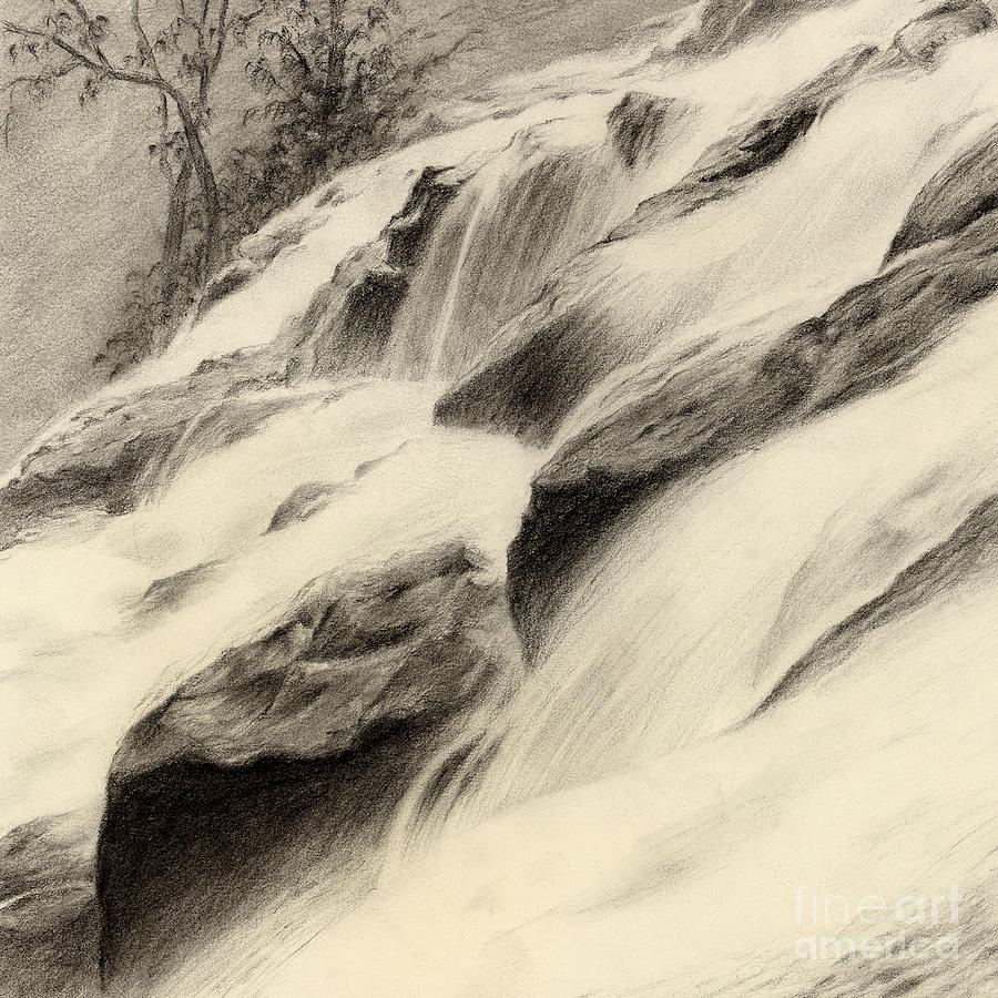 River Stream Painting