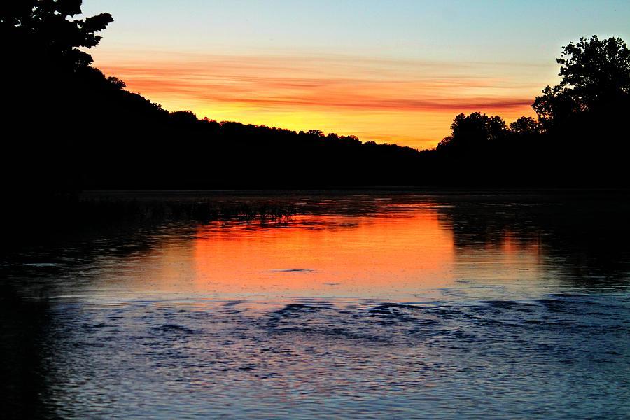 Sunset Photograph - River Sunset by Candice Trimble