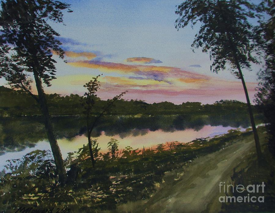River Sunset Painting - River Sunset by Martin Howard