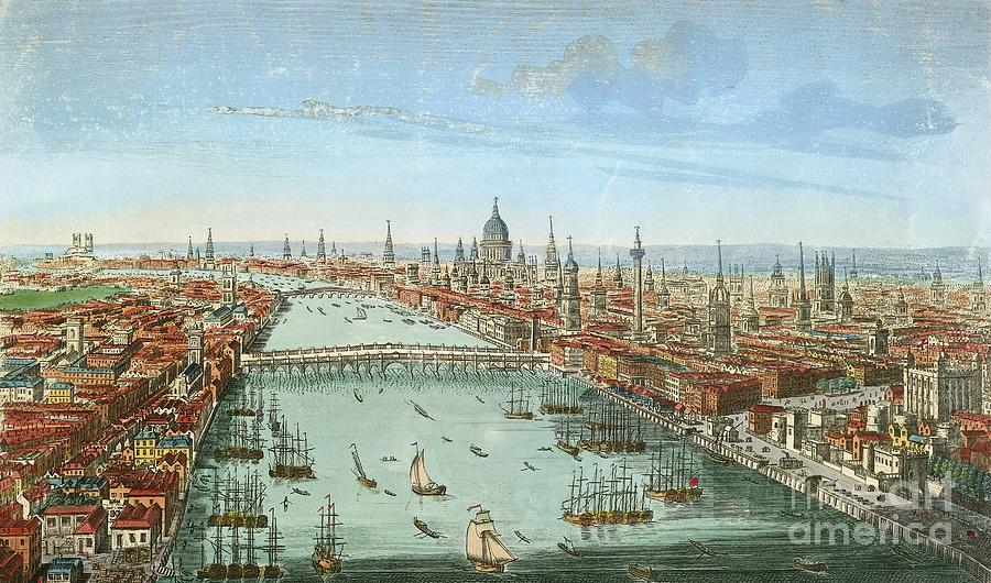 River Thames, London, 18th Century Photograph by British