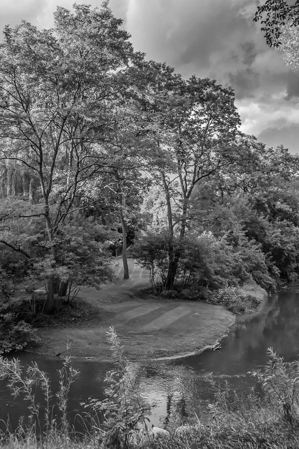 Bolton Photograph - River Tranquility Monochrome by Steve Harrington