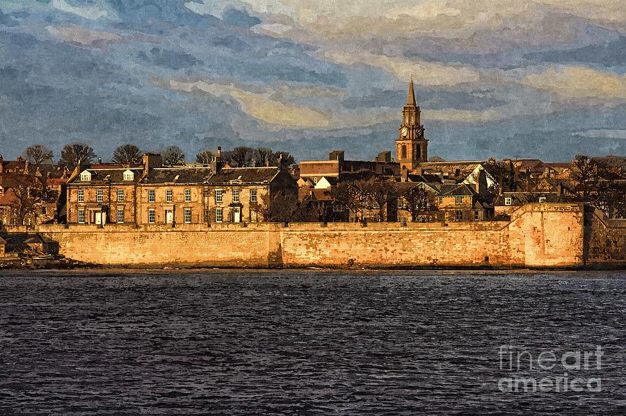 River Tweed at Berwick - Photo Art by Les Bell