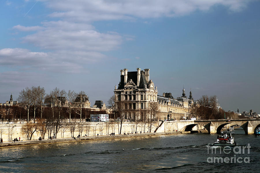 River Photograph - River View In Paris by John Rizzuto