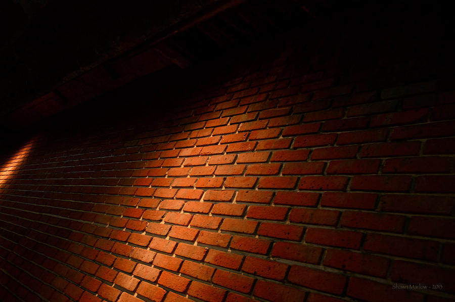 Architecture Photograph - River Walk Brick Wall by Shawn Marlow