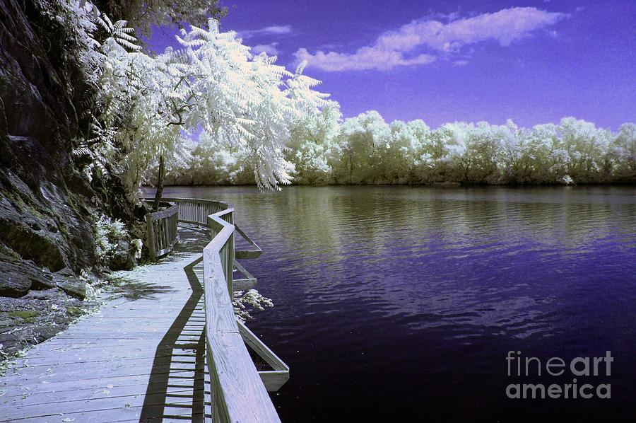 Infrared Photograph - River Walk by Paul W Faust -  Impressions of Light