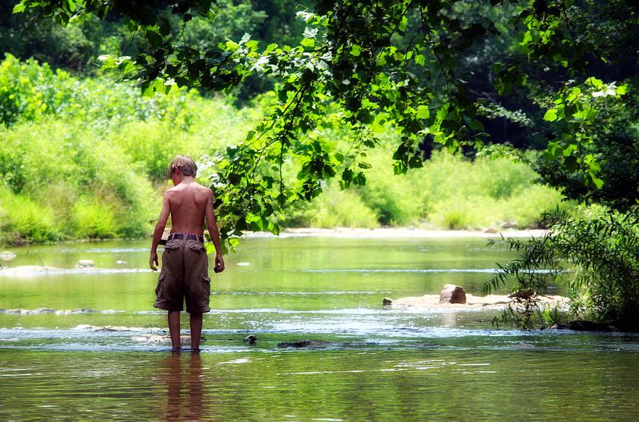 Child Photograph - River Walk by Tamara Gentuso