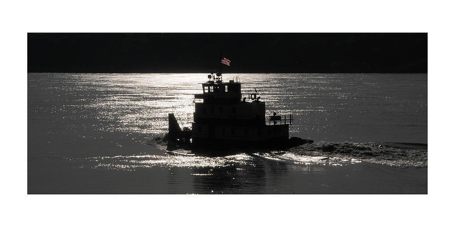 Riverboat Photograph - Tugboat by Leon Hollins III
