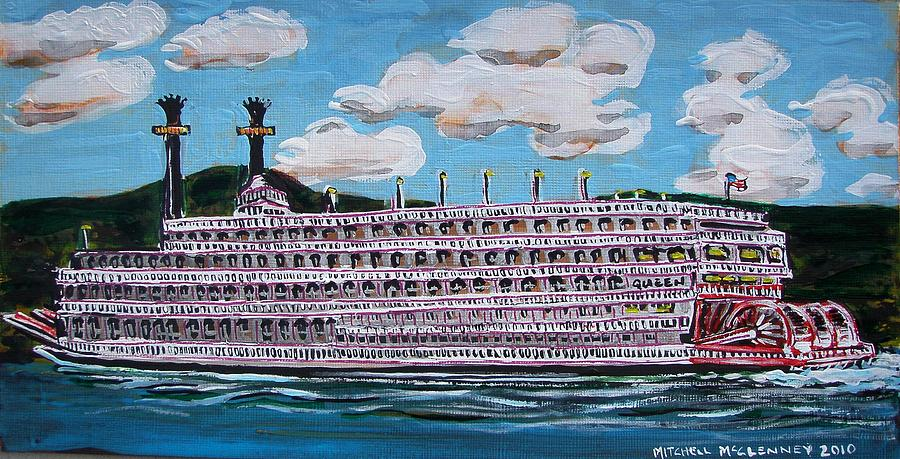 Mississippi River Painting - Riverboat Queen by Mitchell McClenney