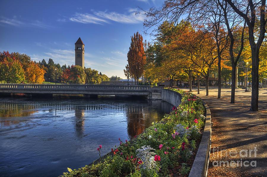 Clock Tower Photograph - Riverfront Park - Spokane by Mark Kiver