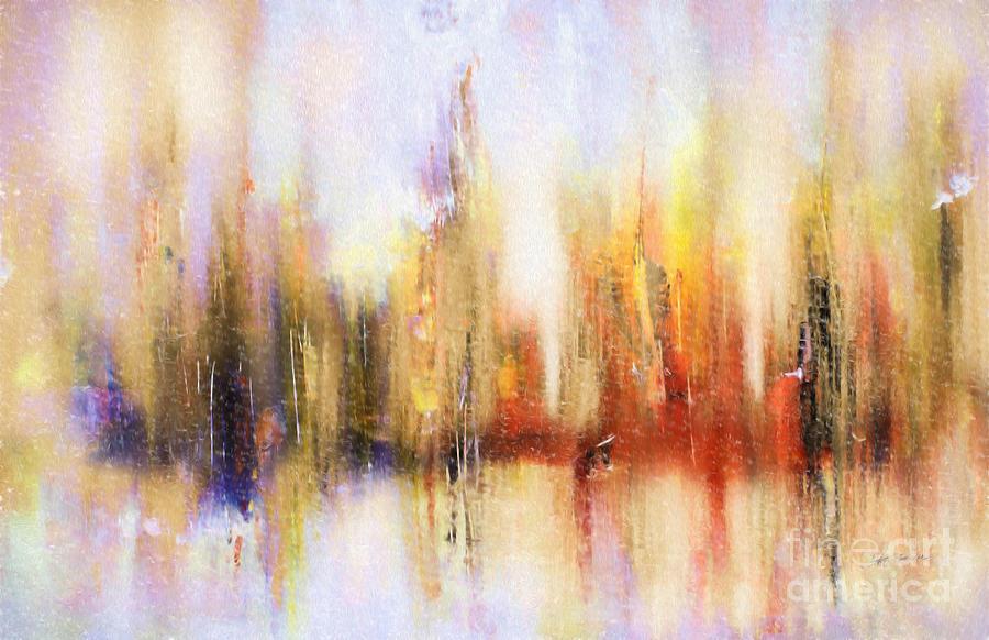 Prints Digital Art - Riverfront Refraction Fine Art Painting by Heinz G Mielke
