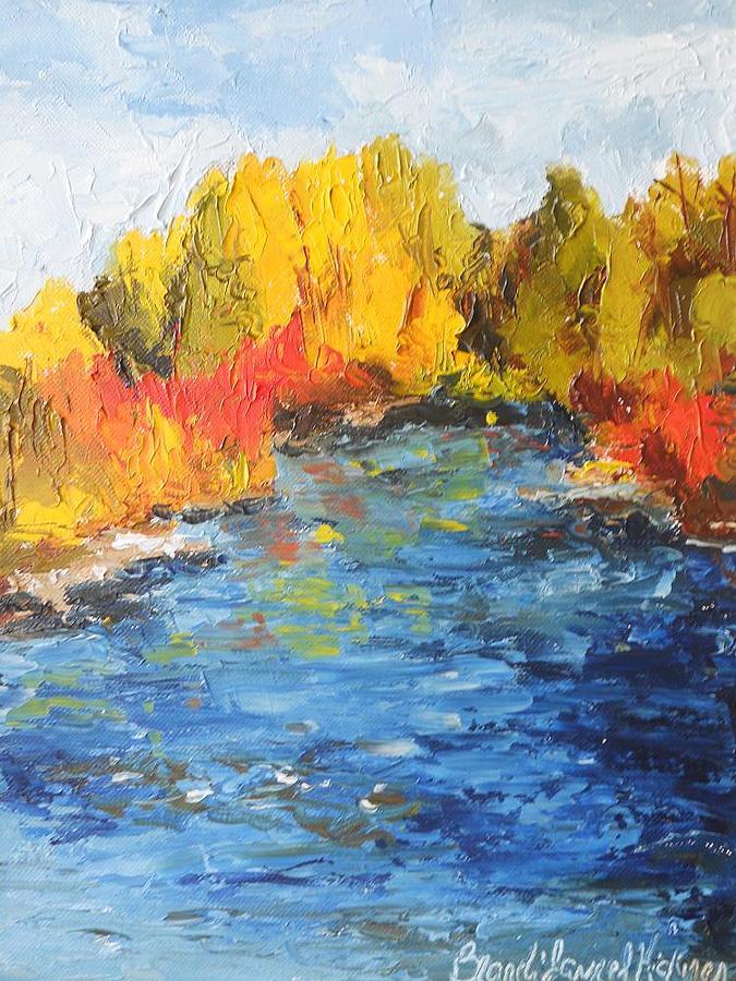 Nature Painting - Rivers Edge by Brandi  Hickman