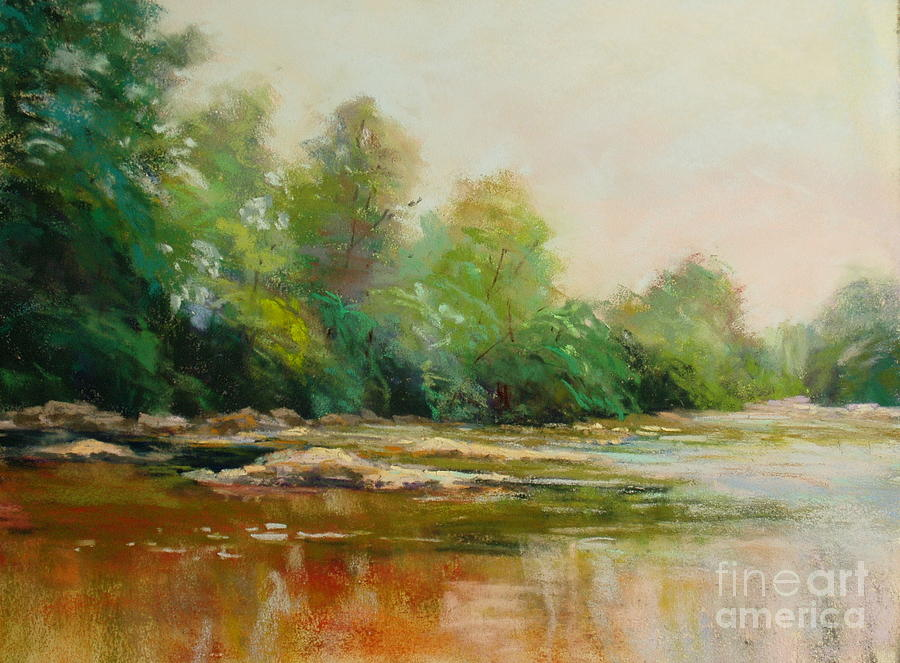 Water Painting - Rivers Edge by Virginia Dauth