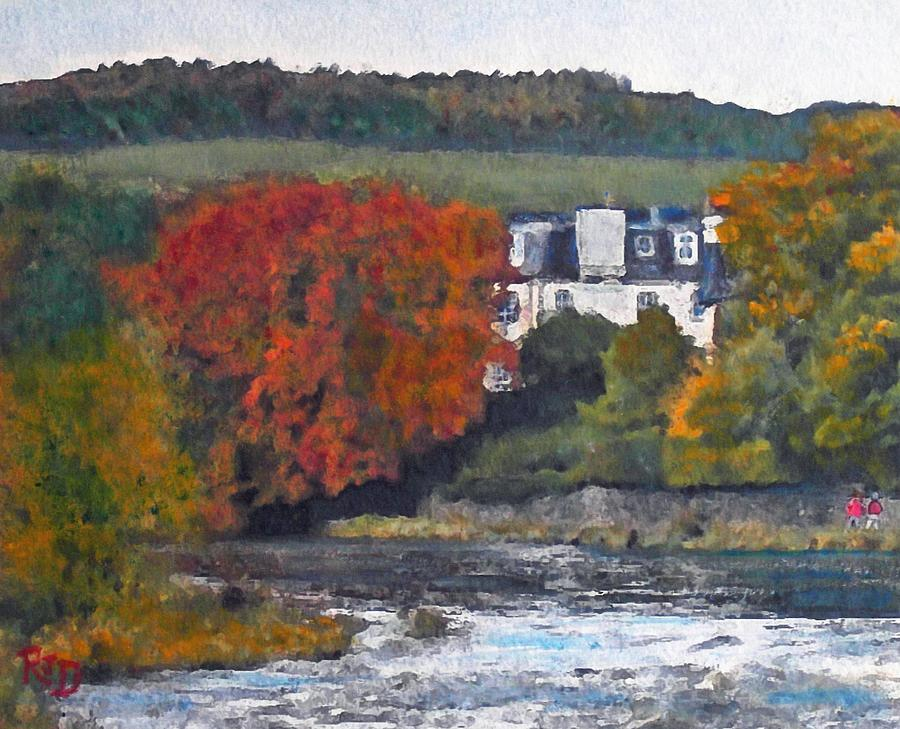 Riverside House And The Cauld Water Peebles Painting