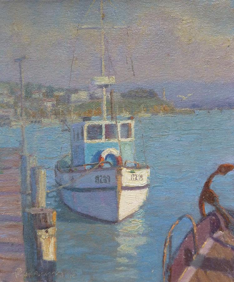 Harbours Painting - Riverton Nz. by Terry Perham