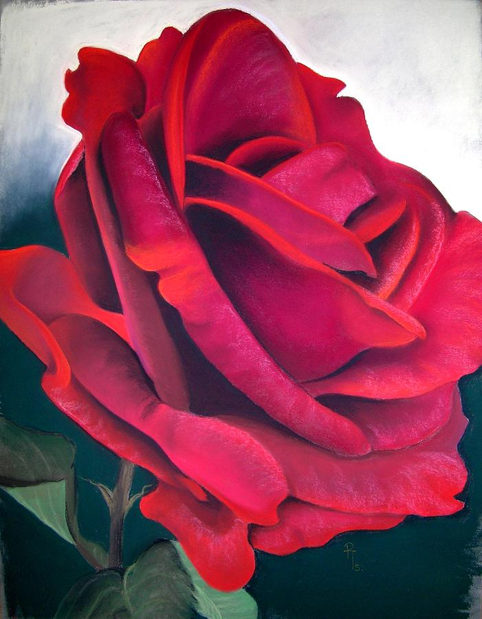 Rose Flower Pastel - Riverview by Rosemarie Temple-Smith