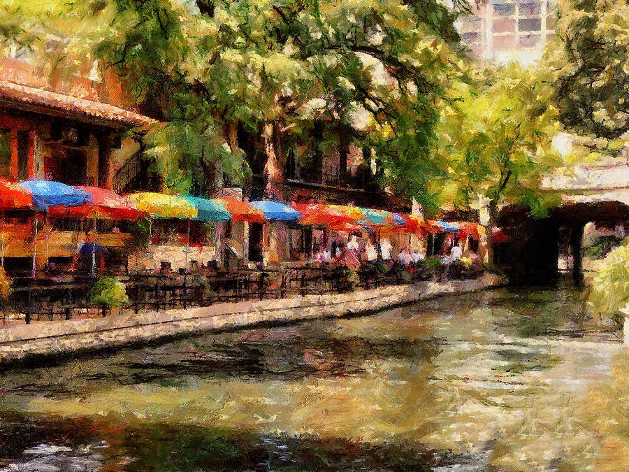 Hotel Digital Art - Riverwalk by Cary Shapiro