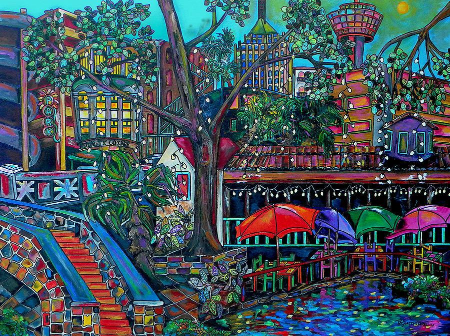 Riverwalk Painting - Riverwalk by Patti Schermerhorn