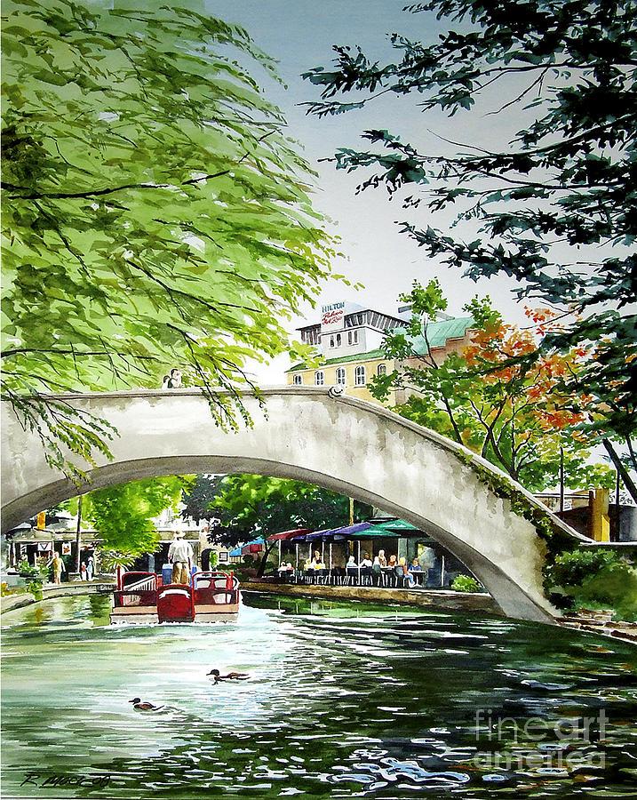 Landmarks Painting - Riverwalk by Rick Mock