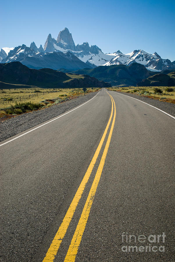 America Photograph - Road leading to Fitz Roy in Patagonia by OUAP Photography