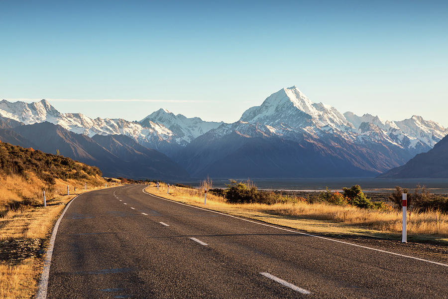 Road Leading To Mt Cook Mountain, New Photograph by Matteo Colombo