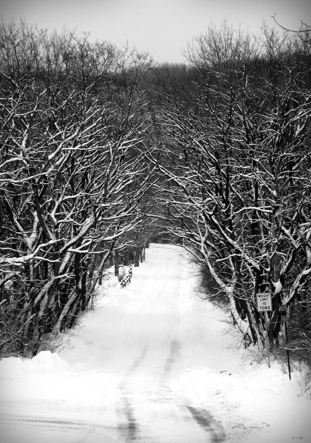 Snow Photograph - Road Less Traveled by Jennifer Compton
