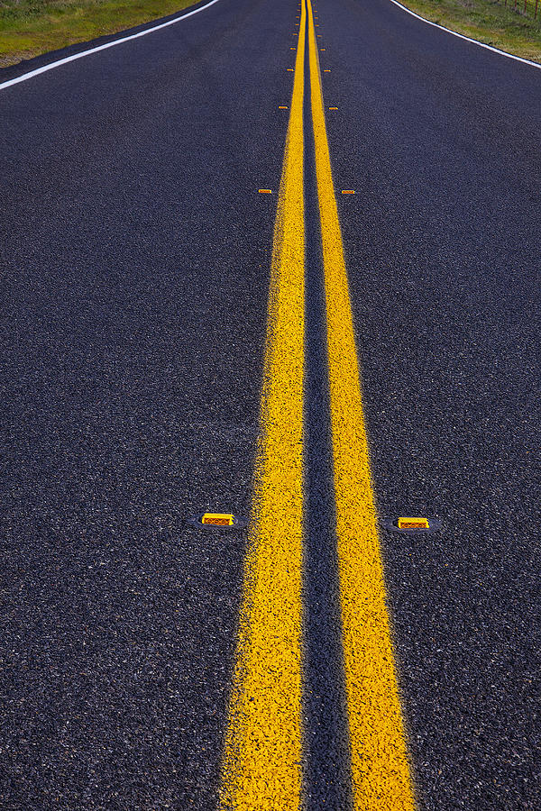 Road Photograph - Road Stripe  by Garry Gay
