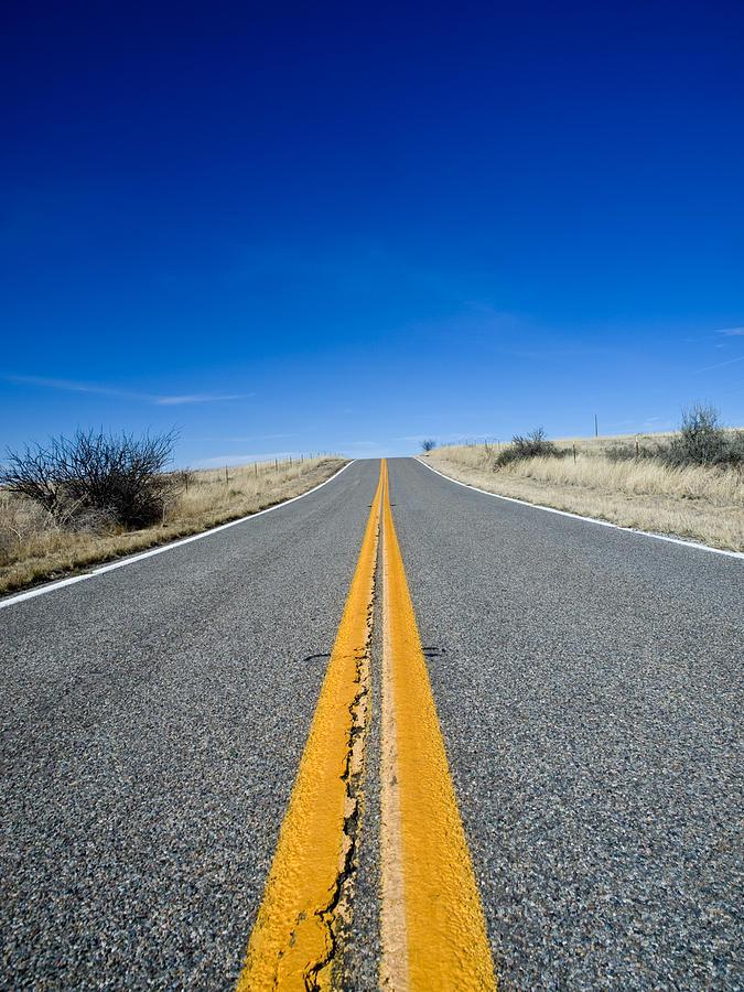 Road Photograph - Road Through Sulphur Flats by Jim DeLillo