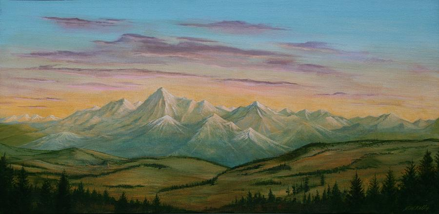 Colorado Painting - Road to Boulder by J W Kelly