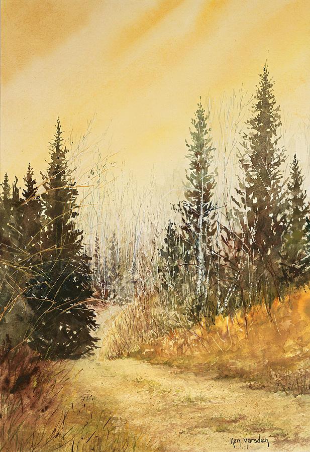 Road to Ed's Cabin-Autumn by Ken Marsden