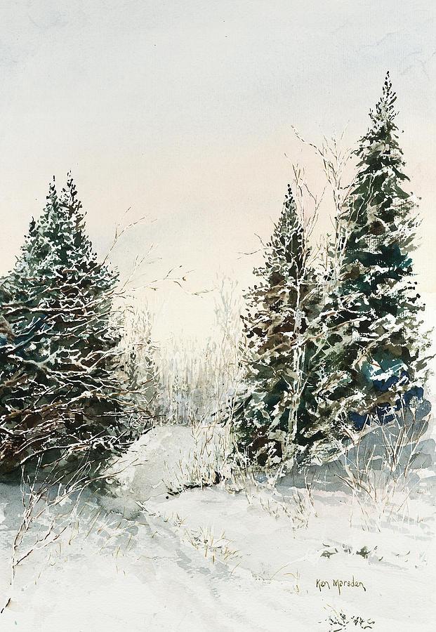Road to Ed's Cabin-Winter by Ken Marsden