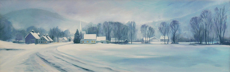 Vermont Painting - Road To Felchville Vermont by Nancy Griswold