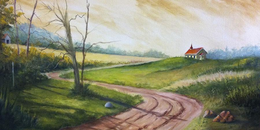 Road To Heaven  Painting by Jolyn Kuhn