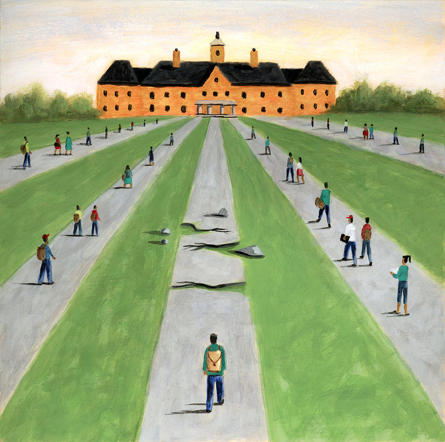 The Road To Higher Education With >> Road To Higher Education Painting By Steve Dininno