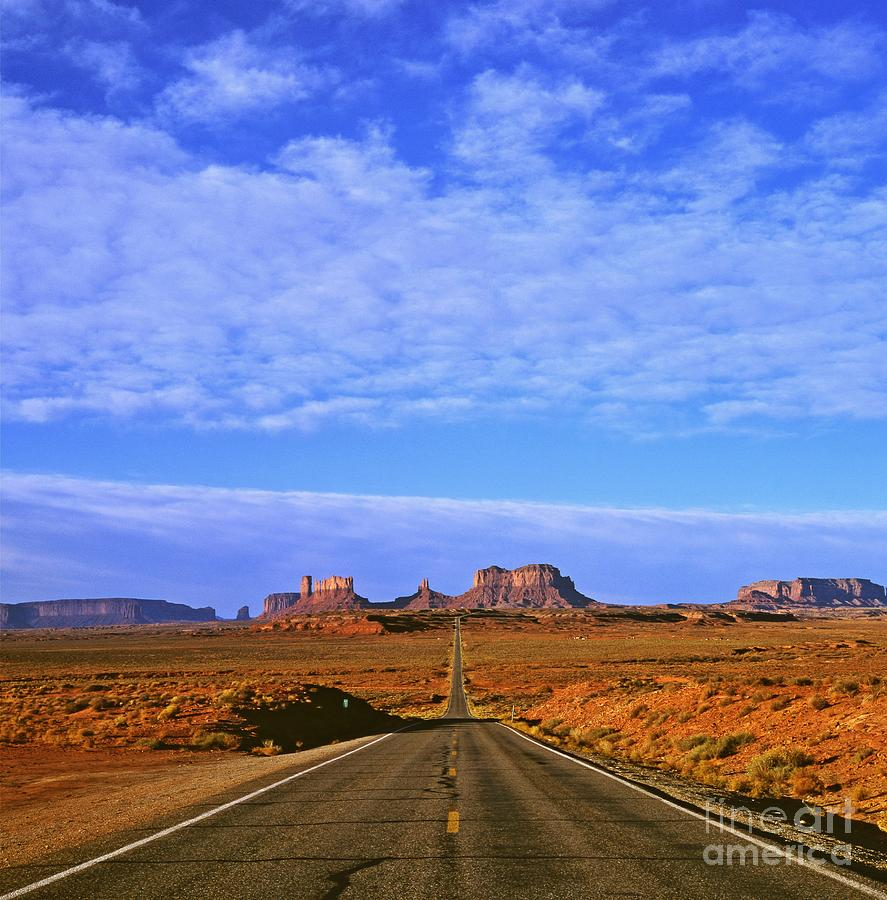 Landscape Photograph - Road To Monument Valley by Alex Cassels