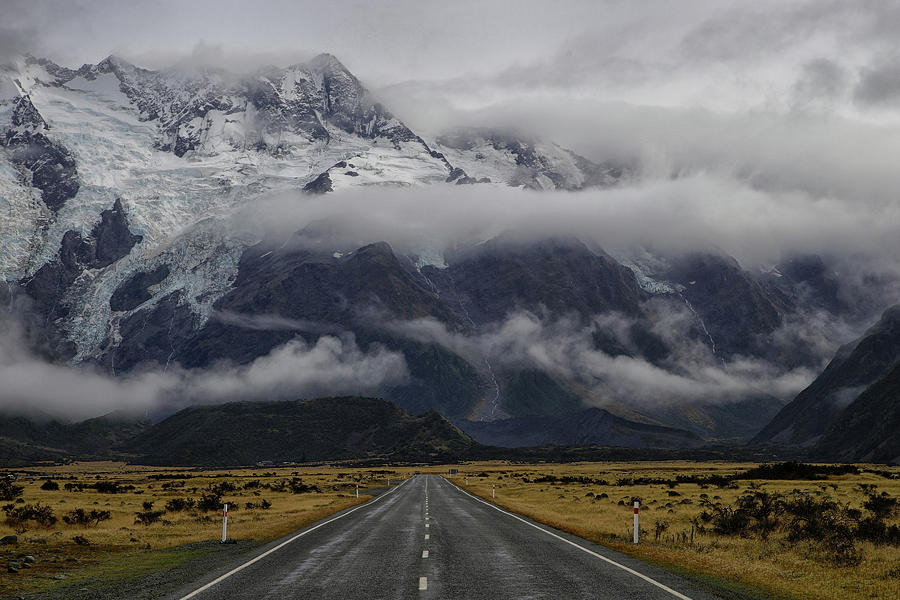 Mountains Photograph - Road To Mt Cook by Dragan Keca