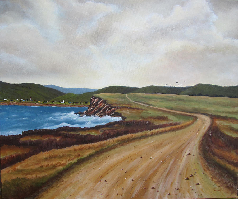 Cheticamp Painting - Road To Recovery Aka Cheticamp Ns by Sharon Steinhaus