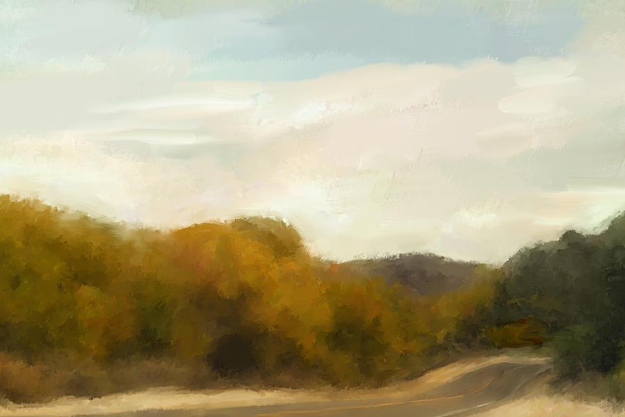 Landscape Mixed Media - Road to Somewhere by Karen Sperling