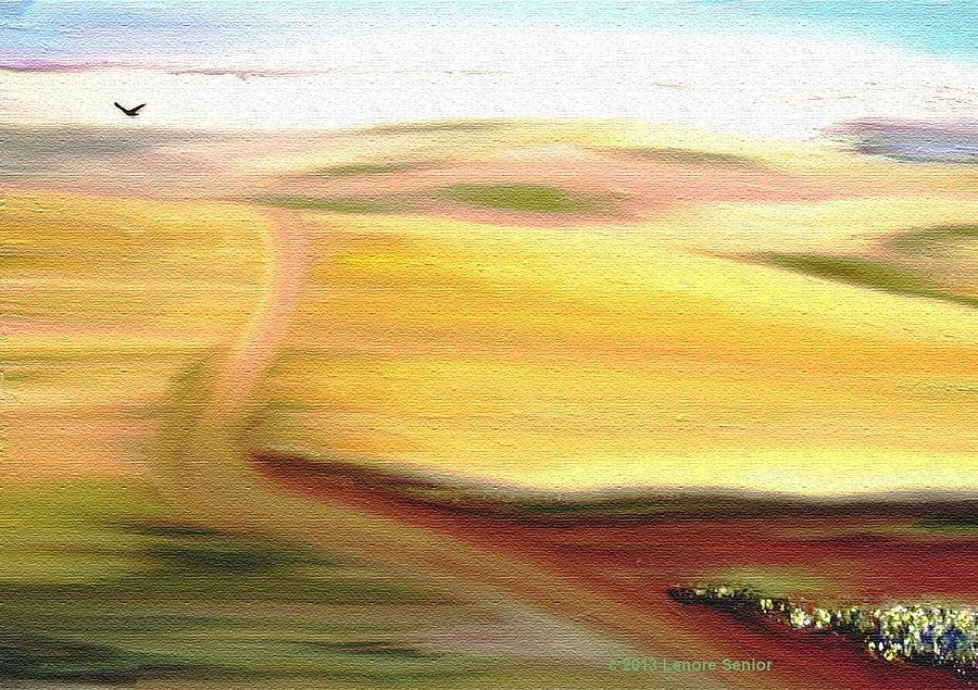 Abstract Mixed Media - Road To Somewhere by Lenore Senior